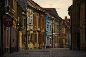 Walking on Brasov's old and chic side streets