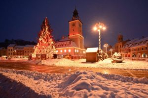 Winter in the main square