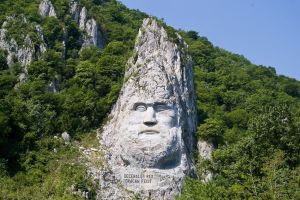 Decebal's Statue: a massive rock sculpture!