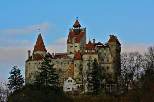The imposing and fortified Bran Castle