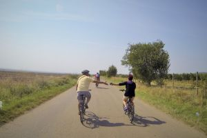 Bikes and wine in Dealu Mare region