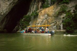 Danube boat ride and cave exploring (April-October)