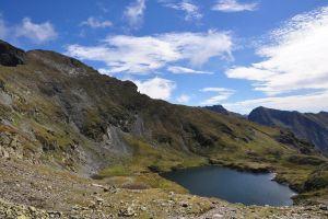 Balea Lake and ridge of Fagaras!
