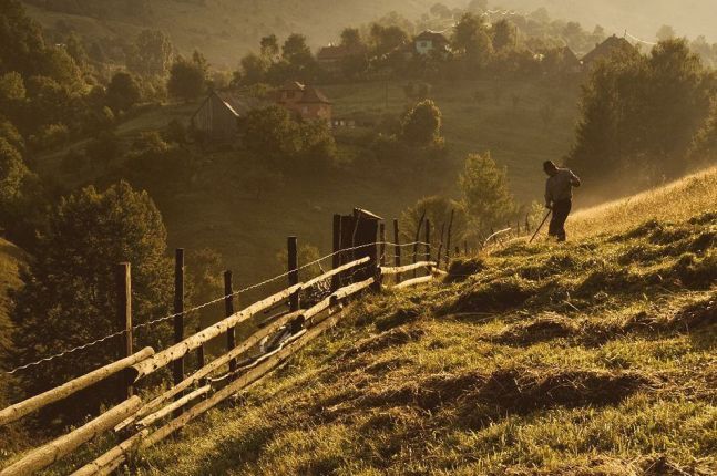 The beautiful Romanian countryside