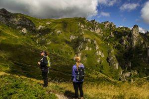 Hiking up to Ciucas Peak