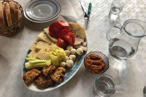Traditional Romanian cheese & lunch